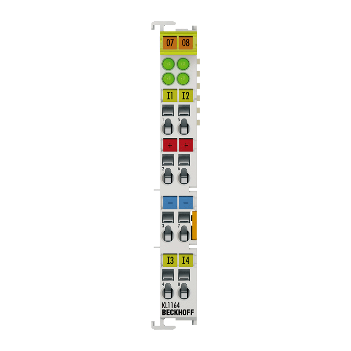 KL1164 | 4-channel digital input terminal 24VDC, positive/ground switching