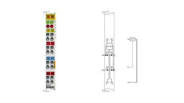 KL1212 | Bus Terminal, 2-channel digital input, 24VDC, 3ms, with diagnostics