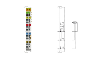 KL1232   2-Kanal-Digital-Eingangsklemme 24VDC mit flankengesteuerter Impulsverlängerung