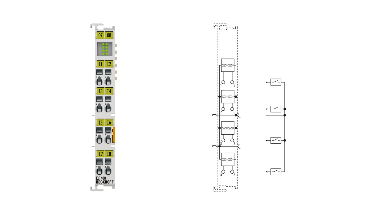 KL1408 | 8-Kanal-Digital-Eingangsklemme 24VDC