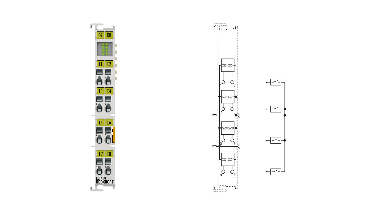 KL1418   8-channel digital input terminal 24VDC