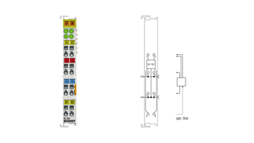 KL1501   Bus Terminal, 1-channel digital input, counter, 24VDC, 100kHz