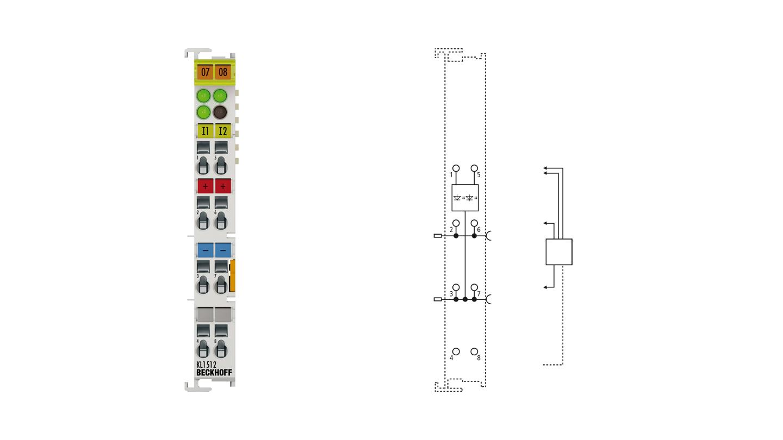 KL1512   2-Kanal-Vor- oder Rückwärtszähler 24 V DC, 1 kHz, 16 Bit