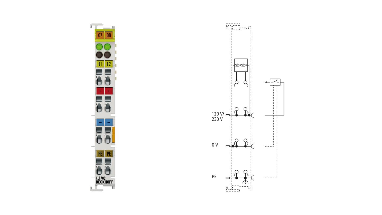 KL1702 | 2-Kanal-Digital-Eingangsklemme 120/230 V AC