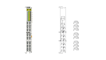 KL1808 | HD Bus Terminal, 8-channel digital input 24VDC, 2-wire connection