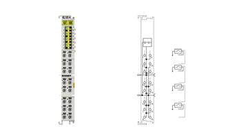 KL1814 | HD-Busklemme, 4-Kanal-Digital-Eingang 24VDC, 3‑Leiteranschluss