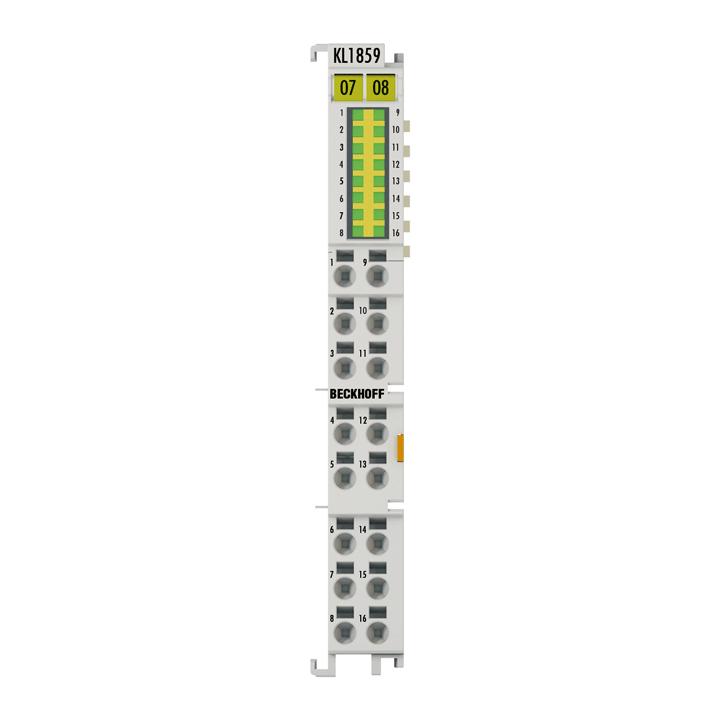 KL1859 | HD Bus Terminal, 8-channel digital input + 8-channel digital output 24VDC