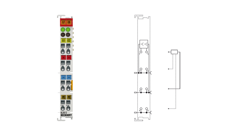 KL2012 | Bus Terminal, 2-channel digital output, 24VDC, 0.5A