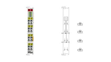 KL2284 | 4-Kanal-Digital-Ausgangsklemme 24 V DC, 2A, Wendeschaltung