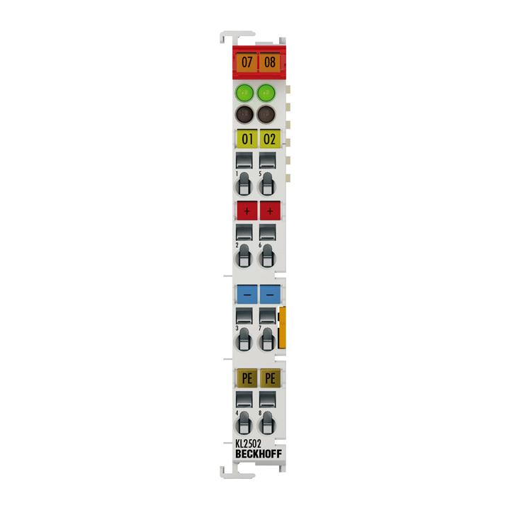 KL2502   2-channel pulse width output terminal 24 V DC