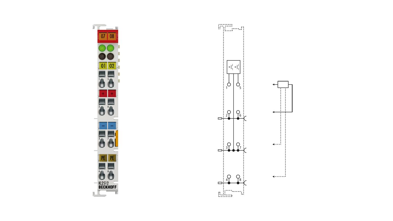KL2512 | 2-Kanal-Pulsweiten-Ausgangsklemme 24 V DC, masseschaltend