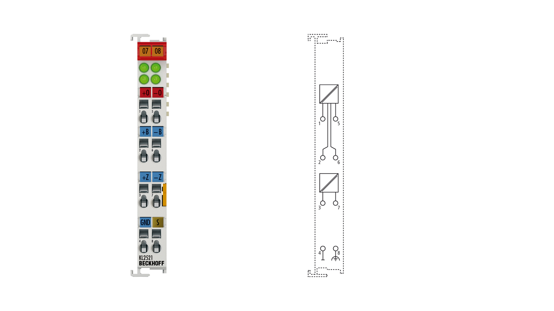 KL2521 | 1-Kanal-Pulse-Train-Ausgangsklemme RS422/24 V DC