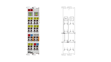 KL2541 | Stepper motor terminal 48VDC, 5A, with incremental encoder
