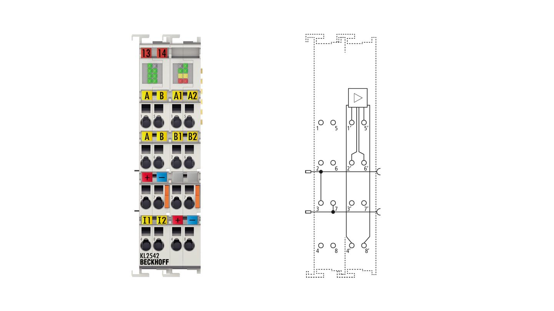 KL2542   2-Kanal-DC-Motor-Endstufe 48 V DC, 3,5 A