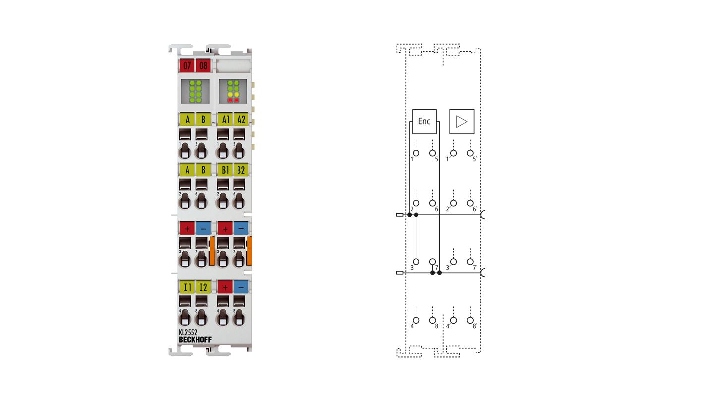 KL2552 | 2-channel DC motor output stage 48 V DC, 5 A