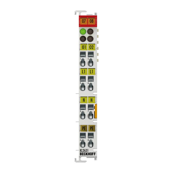 KL2631 | 1-Kanal-Relais-Ausgangsklemme 400 V AC, 300 V DC
