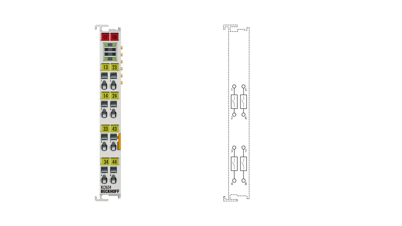 KL2634 | 4-channel relay output terminal 250 V AC/30 V DC