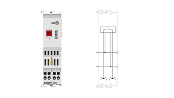 KL2641 | Bus Terminal, 1-channel relay output, 230VAC, 16A, manual operation
