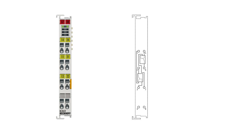 KL2652 | 2-Kanal-Relais-Ausgangsklemme 230 V AC, 300 V DC