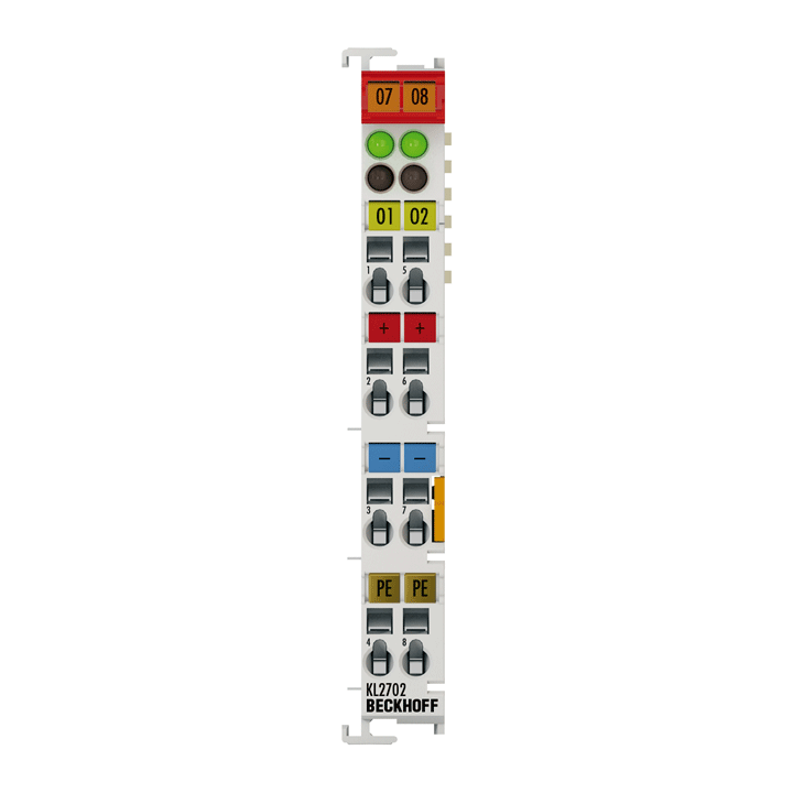 KL2702   2-Kanal-Solid-State-Lastrelais bis 230 V AC/DC