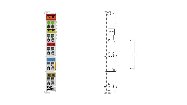 KL2712 | Bus Terminal, 2-channel triac output, 12...230VAC, 0.5A