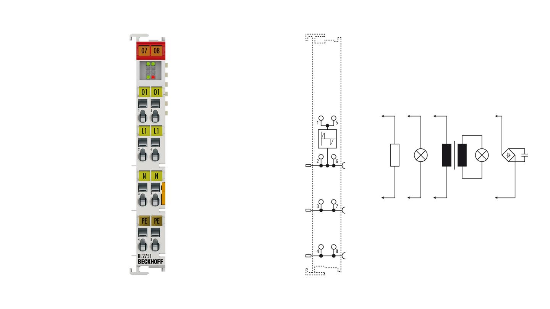 KL2751 | 1-channel universal dimmer terminal 230 V AC, 300 VA (W)