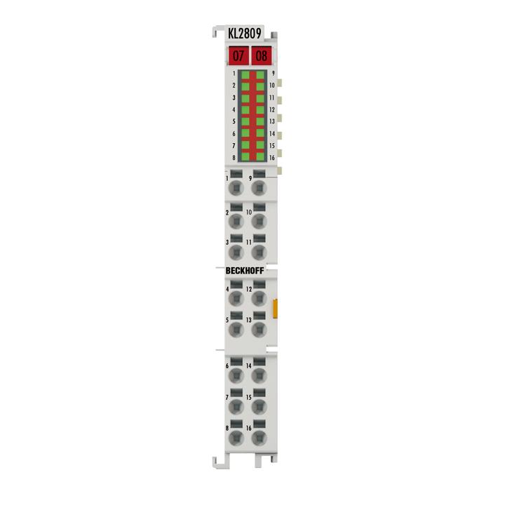 KL2809 | HD-Busklemme, 16-Kanal-Digital-Ausgang 24 V DC