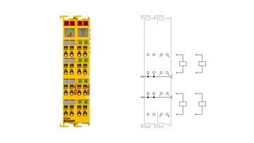 KL2904 | 4-channel digital output terminal, TwinSAFE, 24 V DC