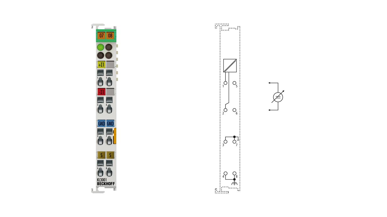 KL3001 | Bus Terminal, 1-channel analog input, voltage, ±10V, 12bit, differential