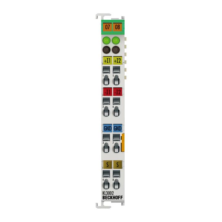KL3002 | Bus Terminal, 2-channel analog input, voltage, ±10V, 12bit, differential