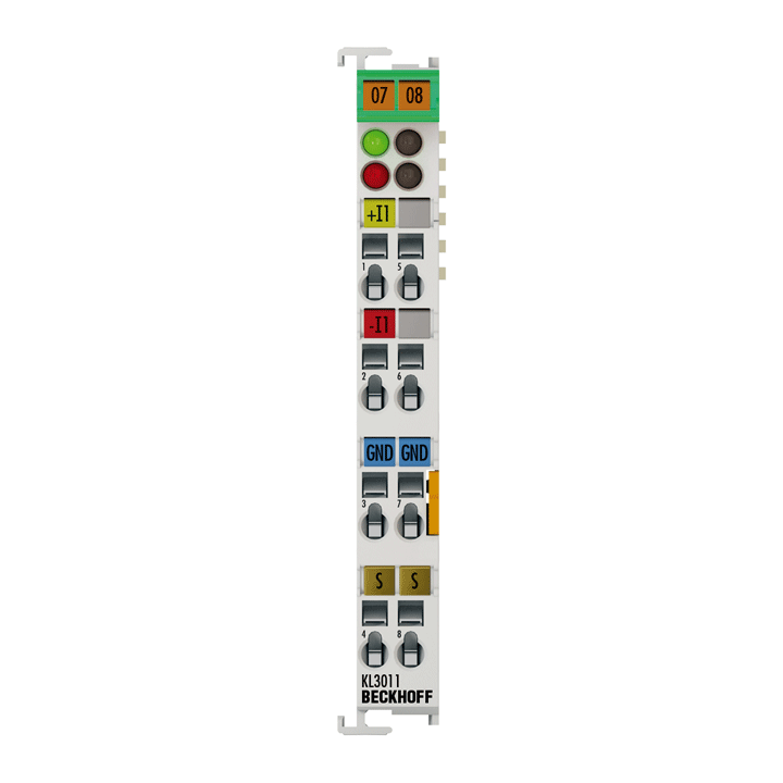 KL3011 | Bus Terminal, 1-channel analog input, current, 0…20mA, 12bit, differential
