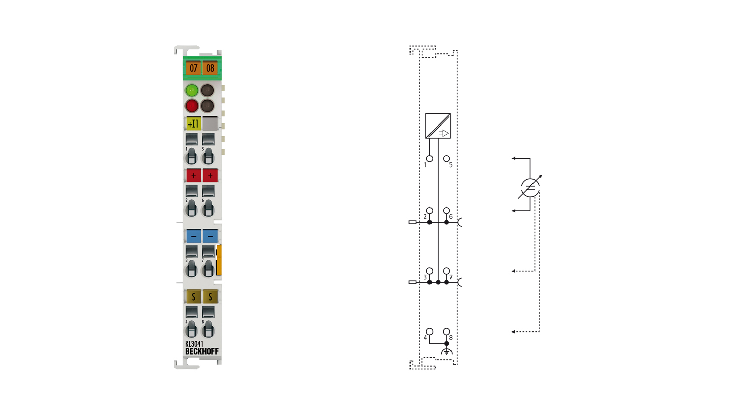 KL3041 | Bus Terminal, 1-channel analog input, current, 0…20mA, 12bit, single-ended