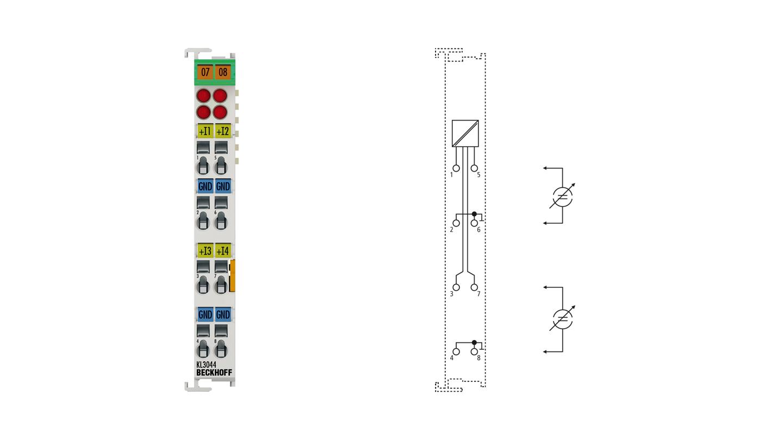 KL3044 | 4-Kanal-Analog-Eingangsklemme 0…20 mA