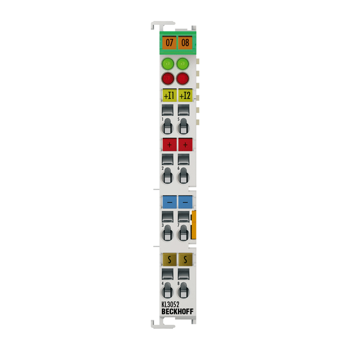 KL3052   Bus Terminal, 2-channel analog input, current, 4…20mA, 12bit, single-ended