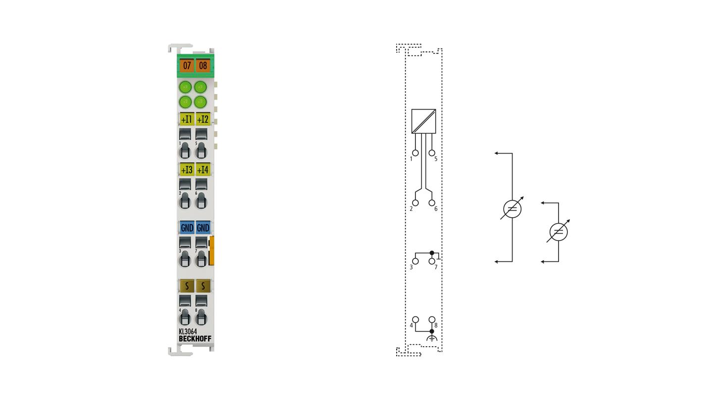 KL3064 | 4-Kanal-Analog-Eingangsklemme 0…10V
