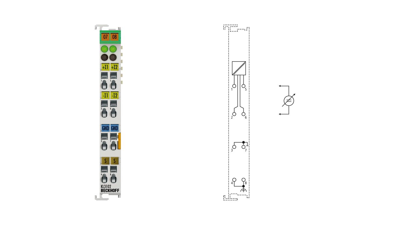KL3102 | 2-Kanal-Analog-Eingangsklemme -10…+10V
