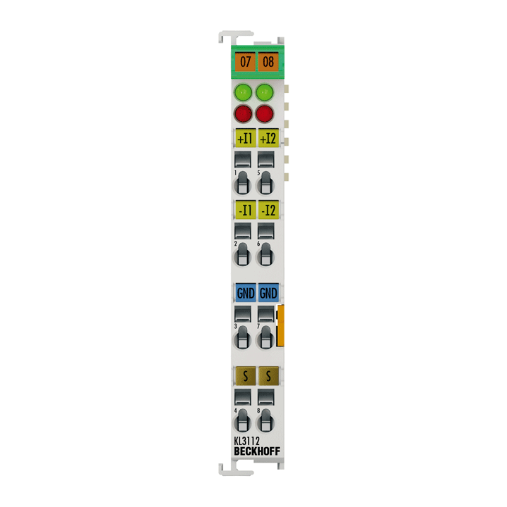 KL3112 | Bus Terminal, 2-channel analog input, current, 0…20mA, 16bit, differential