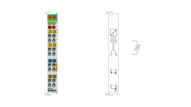 KL3122 | 2-channel analog input terminal 4…20 mA
