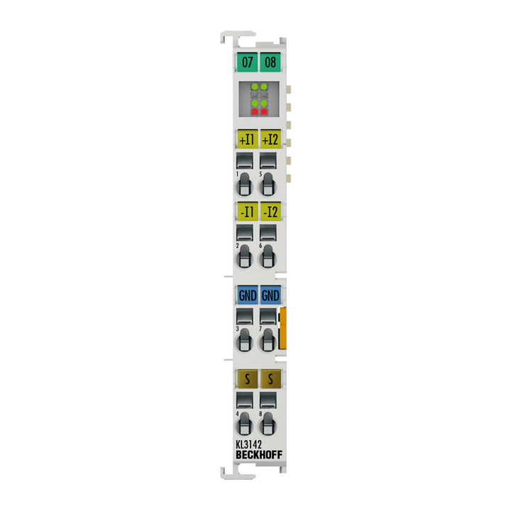 KL3142   Bus Terminal, 2-channel analog input, current, 0…20mA, 16bit, differential, high-precision