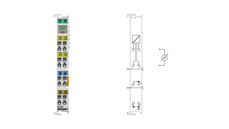 KL3182 | Bus Terminal, 2-channel analog input, voltage, ±2V, 16bit, differential, high-precision