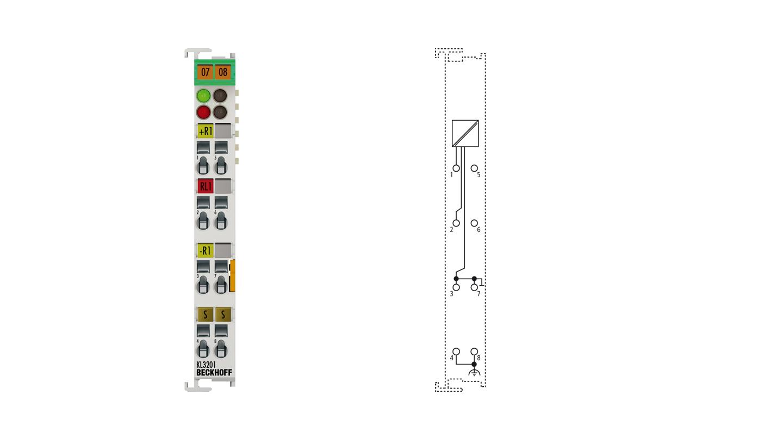 KL3201 | Bus Terminal, 1-channel analog input, temperature, RTD (Pt100), 16bit