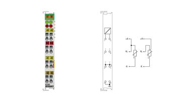 KL3202 | Bus Terminal, 2-channel analog input, temperature, RTD (Pt100), 16bit