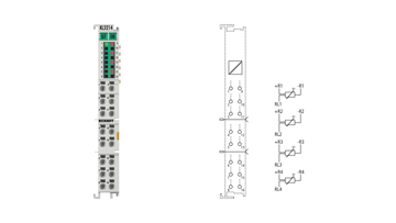KL3214 | 4-channel input terminal Pt100 (RTD) for 3-wire connection