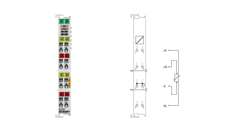 KL3222   Bus Terminal, 2-channel analog input, temperature, RTD (Pt100), 16bit, high-precision