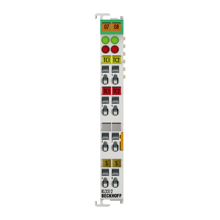 KL3312 | Bus Terminal, 2-channel analog input, temperature, thermocouple, 16bit