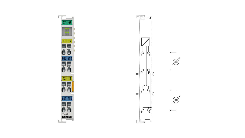 KL3404 | 4-channel analog input terminal -10…+10V