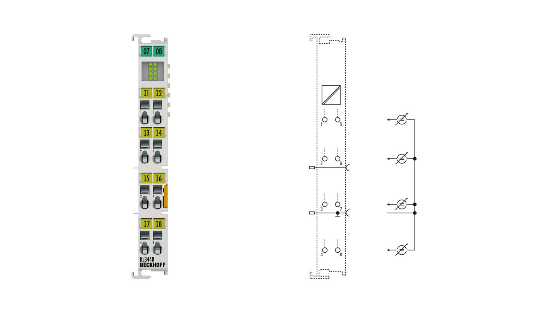 KL3448 | 8-Kanal-Analog-Eingangsklemme 0…20 mA