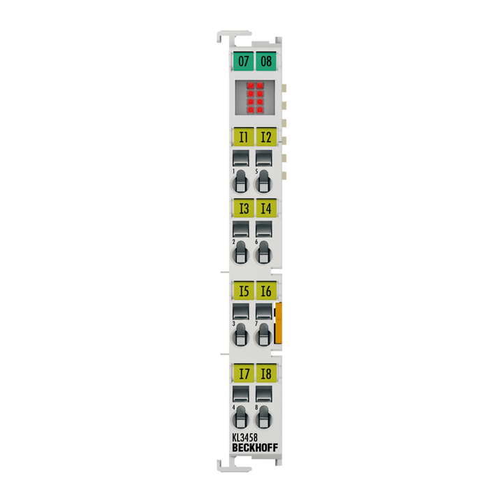 KL3458 | Bus Terminal, 8-channel analog input, voltage, 4…20mA, 12bit, single-ended