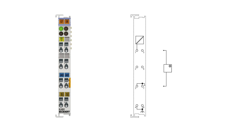 KL4001 | Bus Terminal, 1-channel analog output, voltage, 0…10V, 12bit, differential