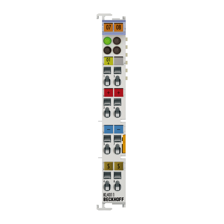 KL4011 | Bus Terminal, 1-channel analog output, voltage, 0…20mA, 12bit, single-ended
